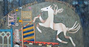 Benaglia, Concorso ippico, 2006, olio su tela